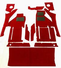 red rosso velours carpet kit for Ferrari TestaRossa incl. trunk carpet