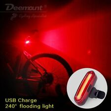 Bicycle Light 100Lm Cob Led Usb Recharge Rear Front 7 Colors Rgb Bike Lamp Mtb