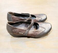 MEPHISTO womens size 7 caoutchouc metallic copper mary jane strap comfort shoes