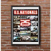 25th Anniversary NHRA US Nationals 1979 Poster - Indianapolis Raceway Park