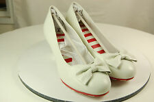 Lola Ramona Elsie Ladies Heels Shoes White Ladies Size UK7/EU40