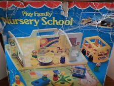 Vintage 1978 Fisher Price Play Family Nursery School #929 w/ Accessories & Box!