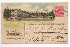 CANADA carte postale ancienne THE CHALET LAKELOUISE
