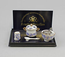"""Reutter Puppenstuben-Miniatur """"Küchen-Set Zwiebel"""" Porzellan Service 9911007"""