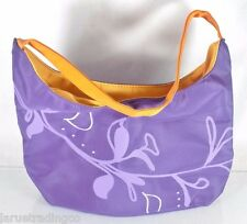 NEW!~LEAN CUISINE~ORANGE & PURPLE LUNCH BAG TOTE PURSE~CULINARY CHIC~INSULATED