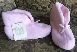 MUKLUKS Slippers 15845 Satin Pink Woven Women Size 6 1/2, 7 1/2