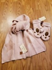 Scotch & Soda Women's Wool Blend Winter Scarf & Gloves  Set Blush Pink NEW