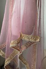 Indian Dupatta Pakistani Pink Shawl for women Stole New Scarf Hijab