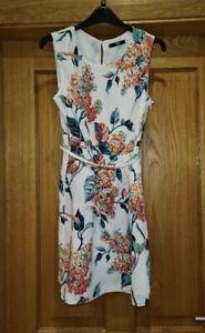 Oasis Floral Silk Dress - Size 10