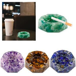 Gemstones Octagon Crystal Cut Resin Ashtray Smoke Ash Holder Home Decor Gift