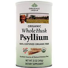 Organic India Fiber Harmony Whole Husk Psyllium Certified Organic Fiber 12 oz