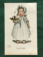 Little Girl Nightgown Candle Katharine Gassaway FL 122 Good Night Color Art 1907