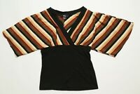 Fall Colors Ladies Women's Size Medium M BCX Top Shirt Blouse USA Made