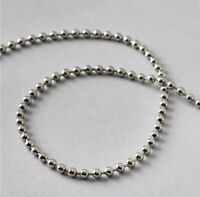 Roller blind beaded chain cord white plastic bead part Sold per 2 metres