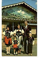 Family-Swiss Festival-Typical Regional Costume-Sugarcreek-Ohio-Vintage Postcard