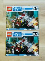 LEGO - INSTRUCTIONS BOOKLET ONLY - STAR WARS 8019 - Republic Attack Shuttle