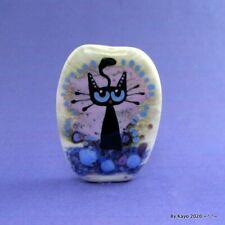 """THE PRETTY KITTY"" a handmade lampwork glass CAT pendant focal bead byKayo SRA"