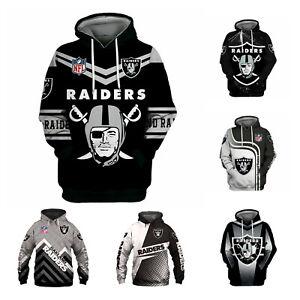 Las Vegas Raiders Fan Athletic Hoodie Pullover Hooded Sweatshirt Jacket Coat Top
