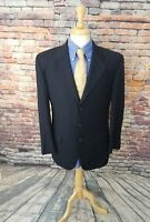 CC Collection Corneliani ITALY 40R Navy Stripe 3 Button Wool Sport Coat Blazer