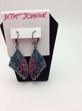 Betsey Johnson YOU GIVE ME BUTTERFLIES WING DROP EARRINGS BB21