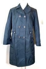 Vintage Gianni VERSACE Versus Greyish Green Nylon Trench Coat Jacket M 28 42 7 8