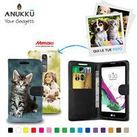 Custodia Flip Cover Pelle Portafoglio Personalizzata Foto Per LG G4 C H525N