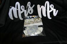 (1) Mr. & Mrs. Glitter Wedding Banner & (1) Mr. & Mrs Glitter Individual Signs