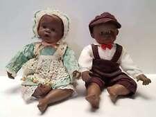 Vintage Porcelain Yolanda Bello Dolls African American Boy Girl Children Babies