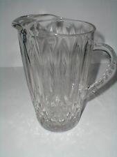 Anchor Hocking Clear Glass CROWN POINT 64 oz Beverage Pitcher w Ice Lip