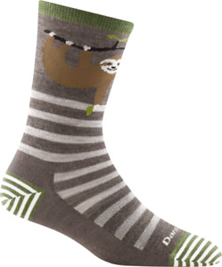 6037 Taupe DARN TOUGH Crew Lightweight Womens Socks S M L MERINO Wool Animal USA