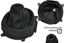 GREEN STITCH LEATHER SHIFT BOOT + PLASTIC FRAME FITS HONDA CIVIC SI 2006-2012