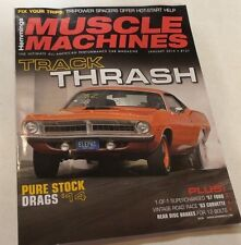 Hemmings Muscle Machines Magazine January 2015  57 Ford 63 Corvette Stock Drags