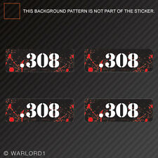 .308 Ammo Can Sticker Set Zombie Edition Die Cut Decal bullet 308