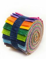 Kaleidoscope  Jelly Roll 100% cotton fabric quilting  17 strips 2.5 inches