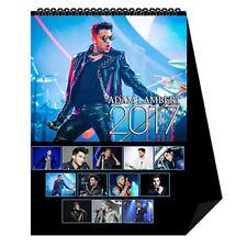 Adam Lambert Glambert January December 2018 Photo Desk Table Calendar