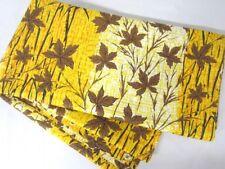 Vintage MOUNTAIN LODGE Autumn Leaves SHOWER CURTAIN Orange Yellow Brown COTTON