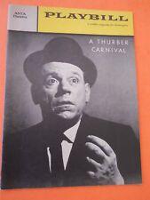June 13 - 1960 - Anta Theatre Playbill - A Thurber Carnival - Tom Ewell
