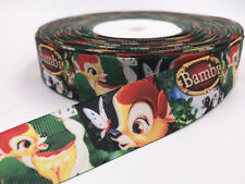"DIY 5 Yard 1""25mm deer Grosgrain Cartoon Animation Printed Pattern Sewing Ribbon"