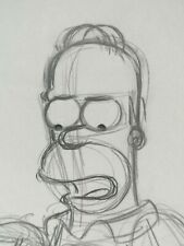 More details for homer simpson cartoon drawing production the simpsons fine art cel one of a kind
