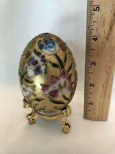 Vintage Decorative Gold Enamel Egg (stand not included )