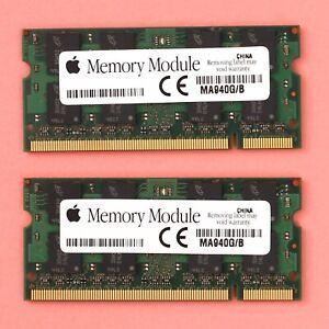 Genuine Apple 4GB (2x 2GB) DDR2 PC2 5300 667Mhz Micron 204 Pin SoDimm RAM