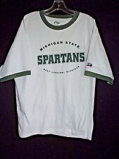 Michigan State Spartans P2 by Pro Player White Green T-Shirt  Men's XL E4