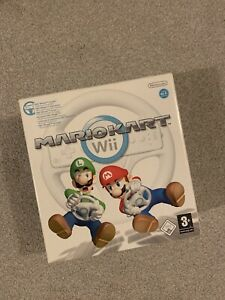 Nintendo Wii Game Mario Kart Wii With Official Wheel Good Condition PAL