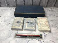 Bridge & Canasta Vintage De La Rue Card Game Set With Cards & Orignial Pencils