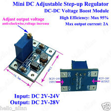 2A DC Boost Step up Converter Regulator 2~24V To 3.3V 5V 9V 12V 24V Power Supply