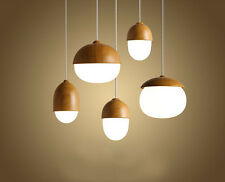 Wood Wooden Pandent Vintage Industrial Edison lamp ceiling Bar Restaurant light