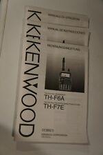 KenwoodBedienungsanleitungTH-F6A / TH-F7E