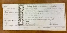 {BJ STAMPS} PINE PLAINS NY STISSING BANK , DUTCHESS co. Stock certificate 1862