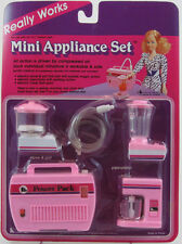 "Kitchen Mini Appliance Set Air Powered Vintage 1986 for 11"" Fashion Doll Barbie"