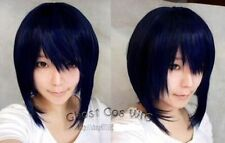 HELLOJF312 Dark blue mixed black anime role-playing wig cosplay wigs for women